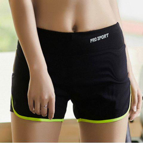 Buy Elastic Multicolor Sport Running Shorts - NEON GREEN L Mobile