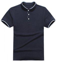 Slim Fit Short Sleeves Half Button Polo T-Shirt For Men