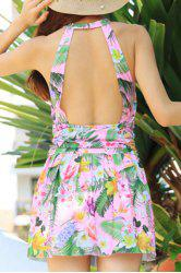 Sweet Backless Printed One-Piece Swimwear For Women