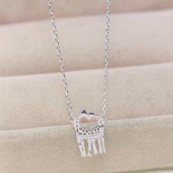 Gorgeous Rhinestone Heart Deer Necklace For Women -