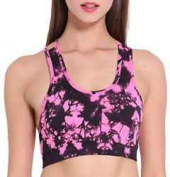 Trendy U Neck Strapped Candy Color Sport Bra For Women -