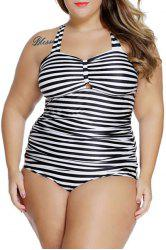 Lace-Up Striped Tankini Bathing Suit Tankini Top Swimsuit