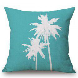 Chic Coconut Palm Pattern Square Shape Flax Pillowcase (Without Pillow Inner) -