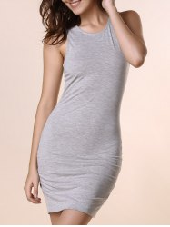 Mini Tank Bodycon Bandage Dress - Gris