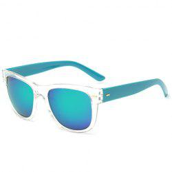 Stylish Short Stripe Shape Alloy Inlay Transparent Frame Sunglasses For Men