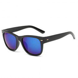 Stylish Short Stripe Shape Alloy Inlay Black Sunglasses For Men