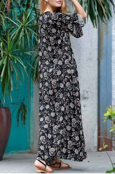 Floral Print Maxi Holiday Beach Dress