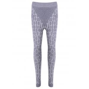 Stylish High Waisted Stretchy Printed Slimming Gym Leggings For Women - Light Gray - One Size(fit Size Xs To M)