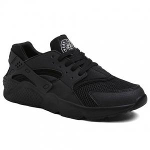 Casual Splicing and Black Design Athletic Shoes For Men - Black - 39