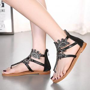 Stunning Flip Flop and Rhinestones Design Sandals For Women -