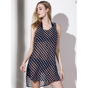 Polka Dot See-Through Cover-Up For Women -