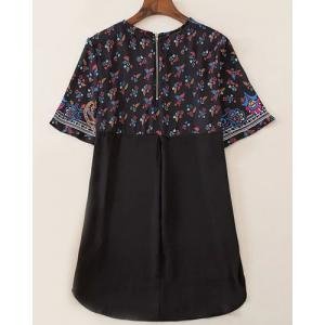Vintage Style Jewel Neck Short Sleeve Printed T-Shirt For Women -