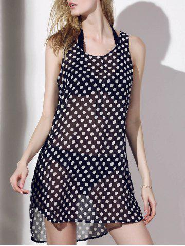 Shops Polka Dot See-Through Cover-Up For Women