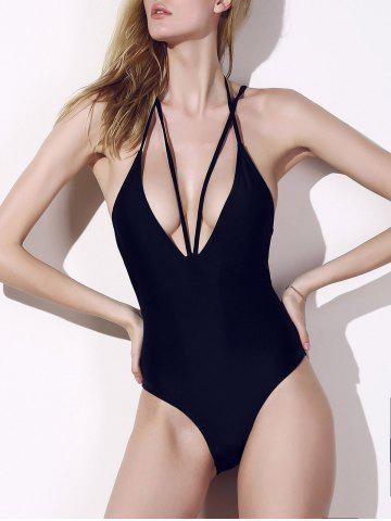 Shops Plunge Cage Low Back Swimsuit BLACK S