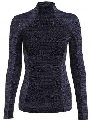 Latest Stylish Stand Collar Long Sleeve Gym Top For Women