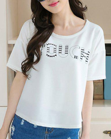 Discount Letter Print Graphic Tee