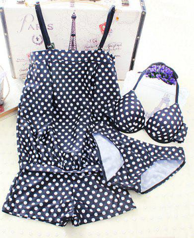Fancy Cute Polka Dot Halter Underwired Women's Bikini Set