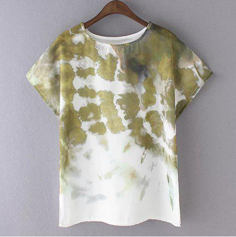Fashion Fashionable Tie-Dyed Short Sleeve Women's T-Shirt