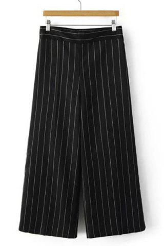 Outfits Fashionable High-Waisted Striped Loose-Fitting Women's Ankle Pants