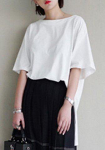 Outfit Chic Round Neck Half Sleeves Hollow Out Women's T-Shirt