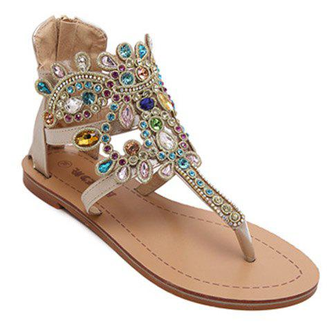 Shops Stunning Flip Flop and Rhinestones Design Sandals For Women