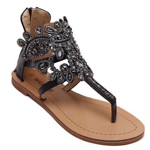 Shop Stunning Flip Flop and Rhinestones Design Sandals For Women