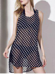 Sexy V-Neck Polka Dot See-Through Cover-Up pour les femmes -