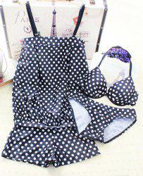 Cute Polka Dot Halter Underwired Women's Bikini Set -