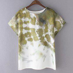 Fashionable Tie-Dyed Short Sleeve Women's T-Shirt -