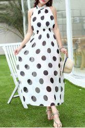 Bohemian Polka Dot Long Dress -