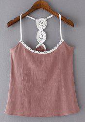 Alluring Spaghetti Strap Spliced Women's Tank Top