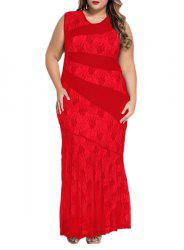 Plus Size Bodycon Lace Maxi Party Dress