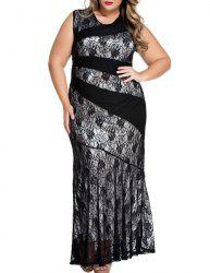 Bodycon Lace Openwork Maxi Flapper Dress