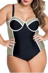 Fashionable Spaghetti Strap Backless One-Piece Women's Swimsuit -
