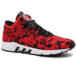 Casual Color Matching and Lace-Up Design Chaussures de sport pour hommes -