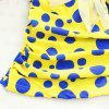 Halter Polka Dot Backless Underwire Padded Tankini - BLUE/YELLOW M