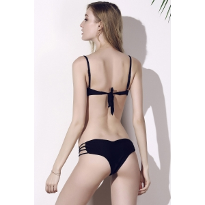 Seamless Heart Pattern Strappy Bikini Briefs Bottom -