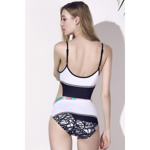 Stylish Sexy Printed One Piece Women's Swimwear -