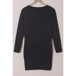 Simple Style Solid Color Long Sleeve Bodycon T-Shirt Dress For Women