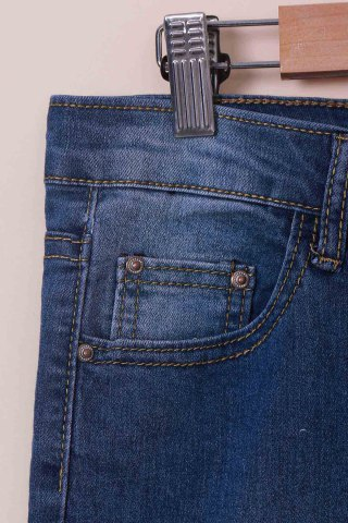 Best High-Waisted Tapered Jeans - M BLUE Mobile