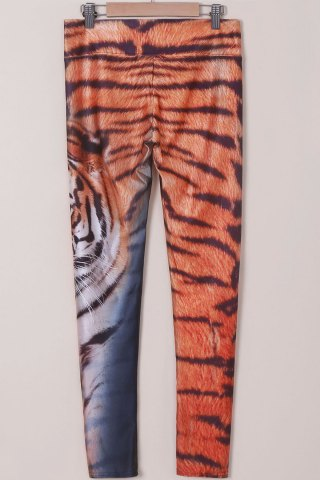 Shop Chic Tiger Print High Stretchy Leggings For Women - ONE SIZE(FIT SIZE XS TO M) TIGER PRINT Mobile