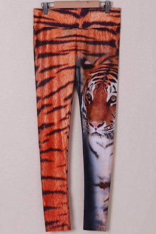 Store Chic Tiger Print High Stretchy Leggings For Women TIGER PRINT ONE SIZE(FIT SIZE XS TO M)