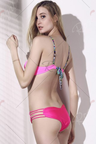 Outfits Seamless Heart Pattern Strappy Bikini Briefs Bottom - ROSE S Mobile