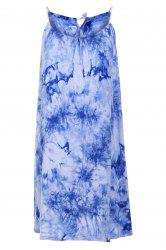 Chic Spaghetti Strap Sleeveless Tie Dye Women's Dress
