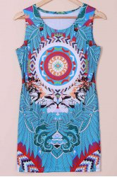 Tribal Print Mini Shift Dress