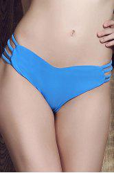 Seamless Heart Pattern Strappy Bikini Briefs Bottom