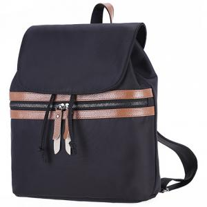 Simple Color Block and Cover Design Satchel For Women -