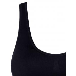 Scoop Neck Solid Color Sport Bra élégant - Noir XL