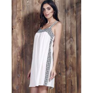 Brief Spaghetti Strap Print Summer Dress For Women -