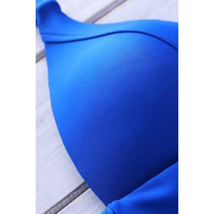 Stylish Strappy Backless Hollow Out One-Piece Swimsuit For Women -